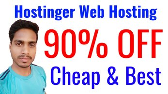 Hostinger 90% OFF Affordable & Fastest Web Hosting in India