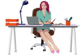 office Girl Earning or Learning
